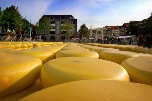 שוק הגבינות באלקמר - צילום: Alkmaar cheese market
