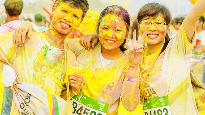 מרוץ צבע אותי רץ בהו-צ'י-מן סיטי  - צילום: colormerun.vn