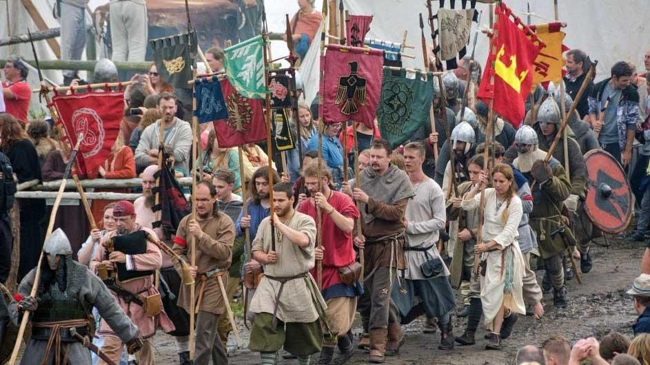 פסטיבל הסלביים והוויקינגים בעיר וֹוֹלִין - צילום:  jomsborg-vineta.com