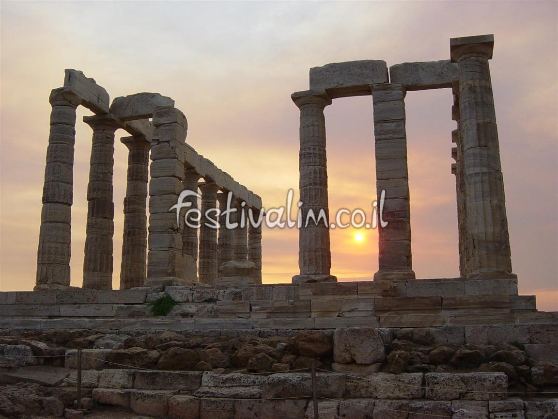 מקדש פוסידון בקייפ סוניון - צילום באדיבות: © CarniFest Online