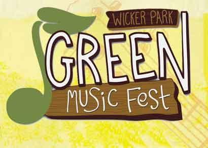 הלוגו של פסטיבל המוזיקה הירוק בשכונת וויקר פארק בשיקגו - צילום: www.greenmusicfestchicago.com