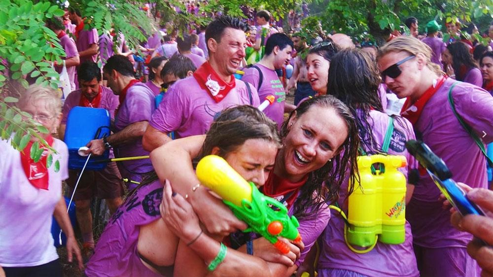 פסטיבל קרב היין של בעיר הארו בצפון ספרד - צילום: wine-fight.com