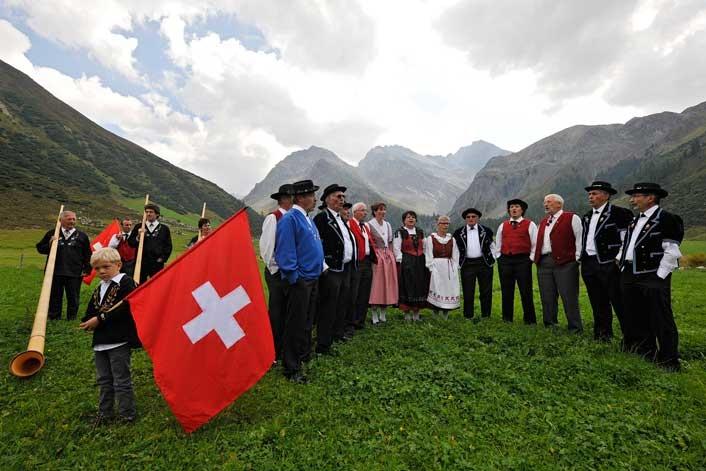 פסטיבל היודל הלאומי בדבוס, שוייץ - צילום:  www.jodlerfest-davos.ch