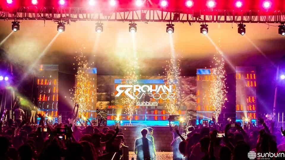 פסטיבל סאנברן גואה - צילום:  http://sunburn.in