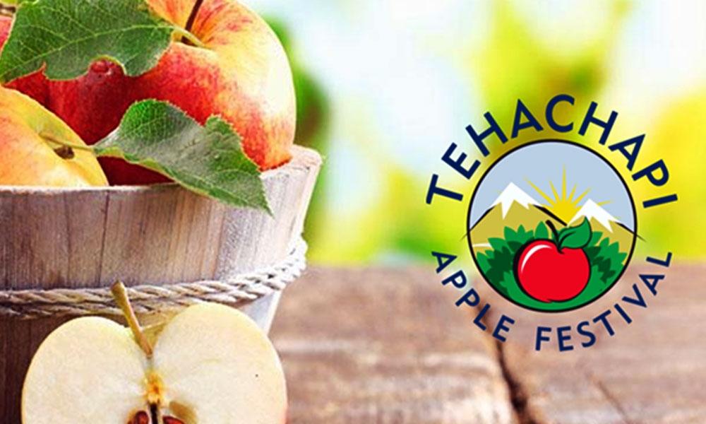 הכרזה של פסטיבל התפוח של  העיר תֶיאצָ'פִי בקליפורניה - צילום: www.tehachapiapplefestival.com