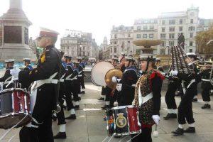 מצעד הקדטים המלכותיים בכיכר טארפלגר - צילום: www.sea-cadets.org