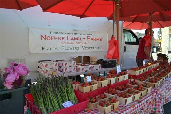 שוק האיכרים של ימי חמישי בערב בשיקגו - צילום: www.lincolnsquare.org/farmers-marke